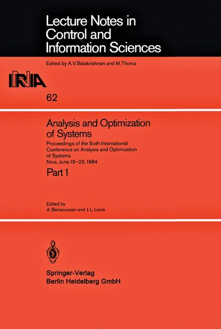 Cover of 'Analysis and Optimization of Systems'