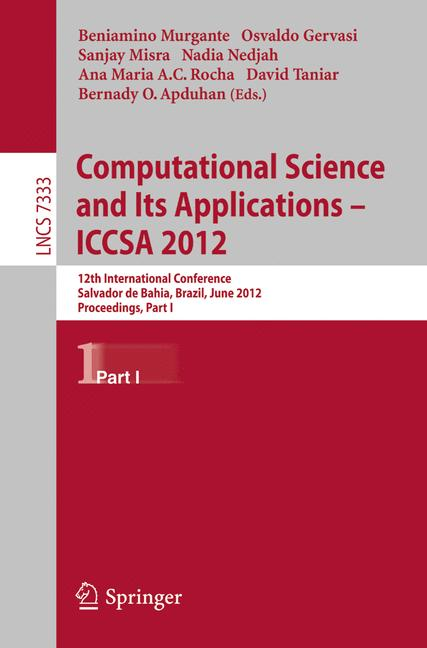 Cover of 'Computational Science and Its Applications – ICCSA 2012'