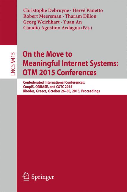 Cover of 'On the Move to Meaningful Internet Systems: OTM 2015 Conferences'