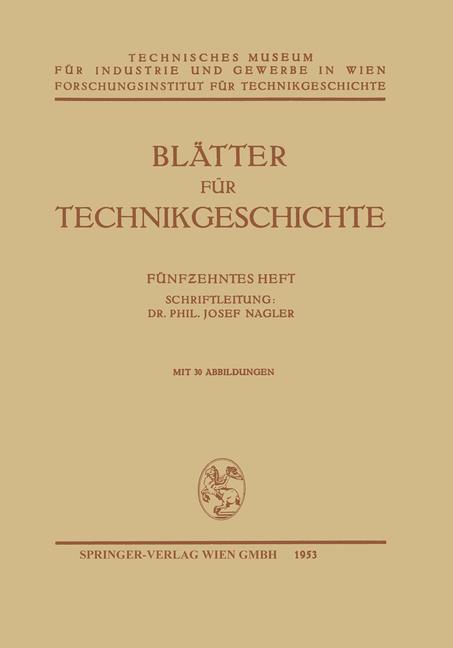 Cover of 'Blätter für Technikgeschichte'