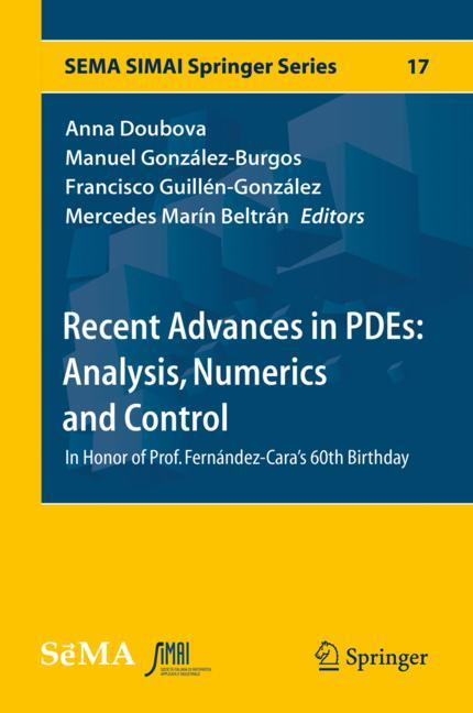 Cover of 'Recent Advances in PDEs: Analysis, Numerics and Control'
