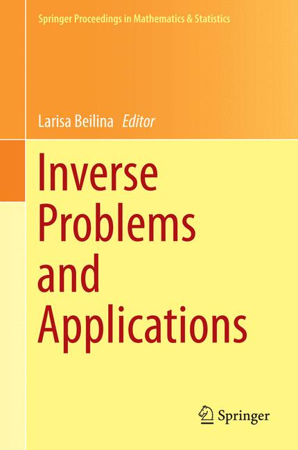 Cover of 'Inverse problems and applications'