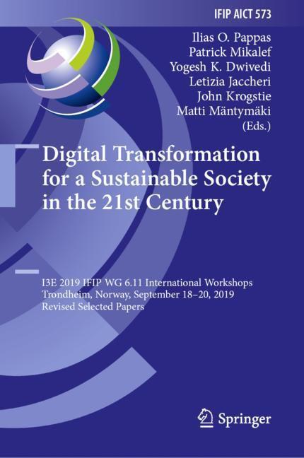 Cover of 'Digital Transformation for a Sustainable Society in the 21st Century'