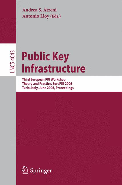 Cover of 'Public Key Infrastructure'