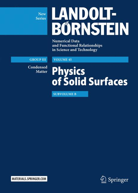 Cover of 'Physics of Solid Surfaces'