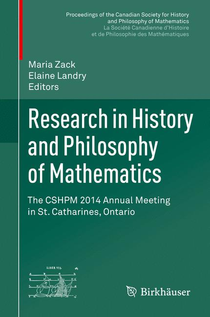 Cover of 'Research in History and Philosophy of Mathematics'
