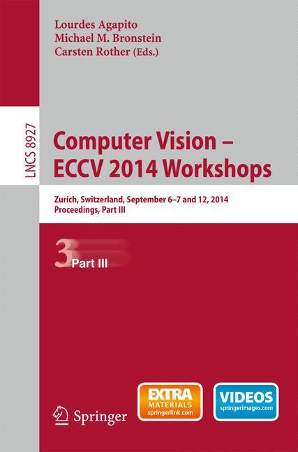 Cover of 'Computer Vision - ECCV 2014 Workshops'