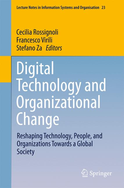 Cover of 'Digital Technology and Organizational Change'