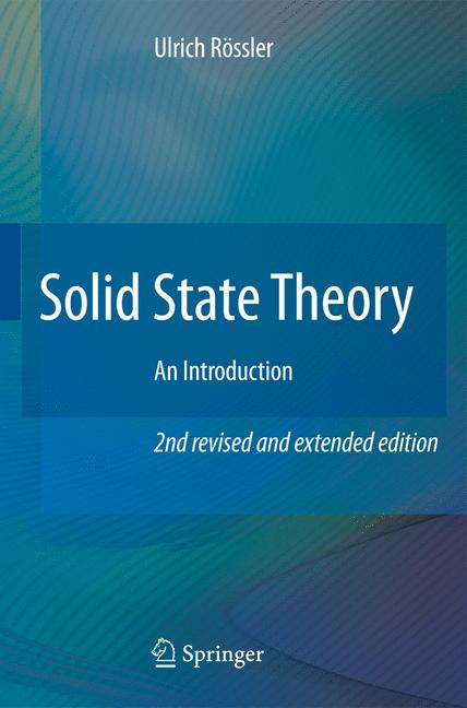 Cover of 'Solid State Theory'