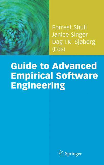 Cover of 'Guide to Advanced Empirical Software Engineering'