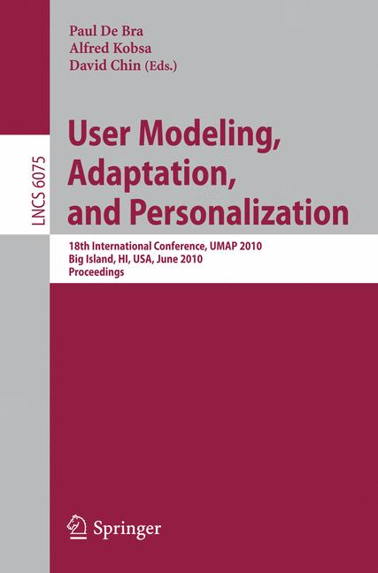 Cover of 'User Modeling, Adaptation, and Personalization'