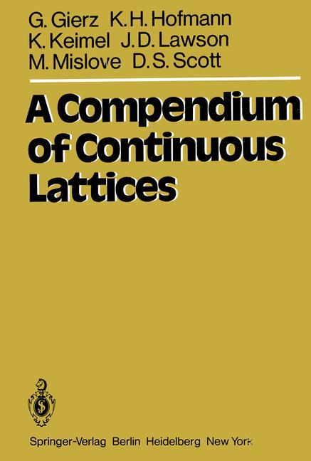 Cover of 'A Compendium of Continuous Lattices'