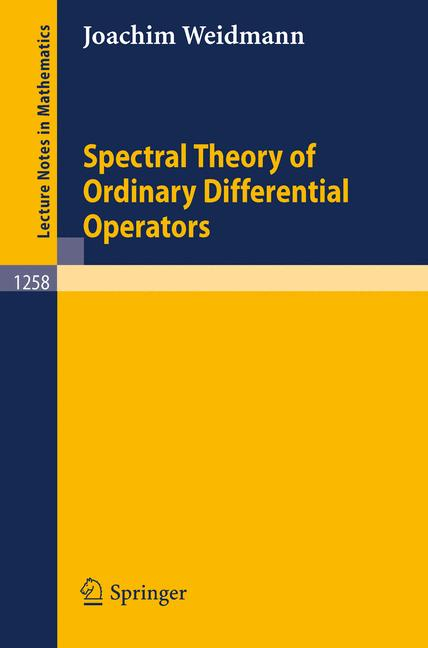 Cover of 'Spectral Theory of Ordinary Differential Operators'