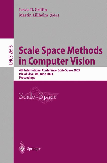 Cover of 'Scale Space Methods in Computer Vision'
