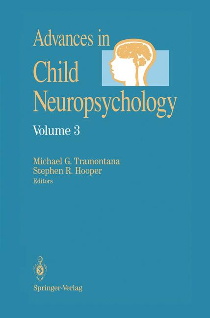 Cover of 'Advances in Child Neuropsychology'