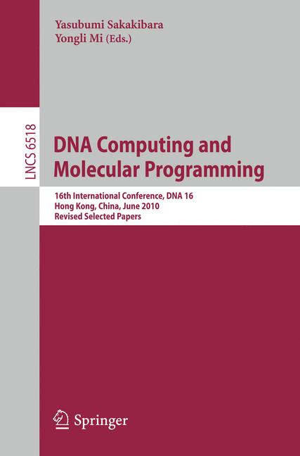 Cover of 'DNA Computing and Molecular Programming'