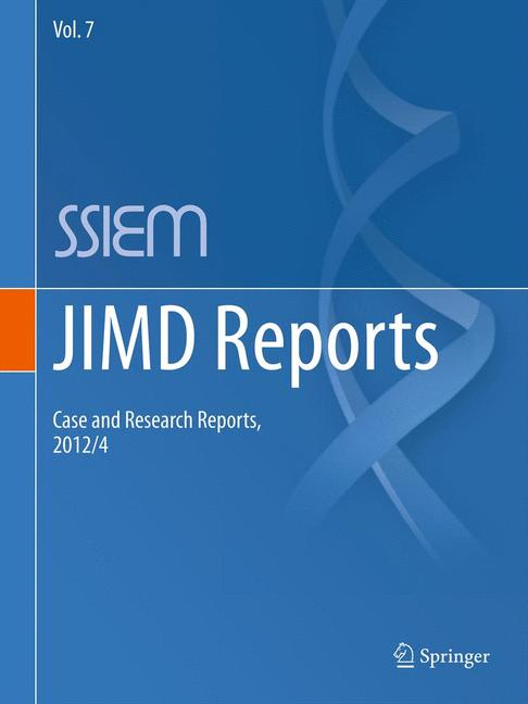Cover of 'JIMD Reports - Case and Research Reports, 2012/4'