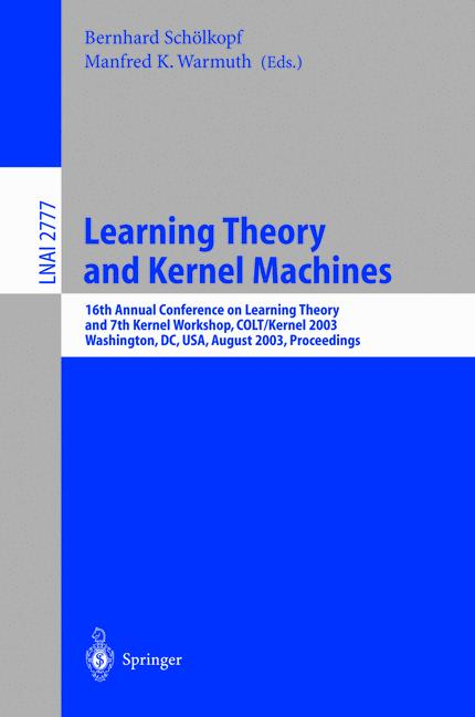 Cover of 'Learning Theory and Kernel Machines'