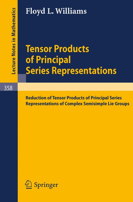Cover of 'Tensor Products of Principal Series Representations'