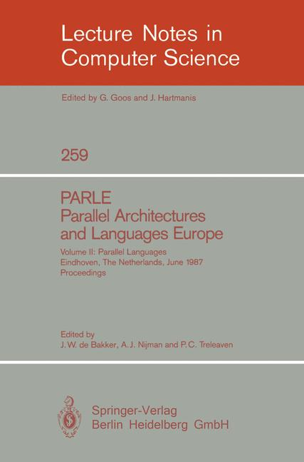 Cover of 'PARLE Parallel Architectures and Languages Europe'