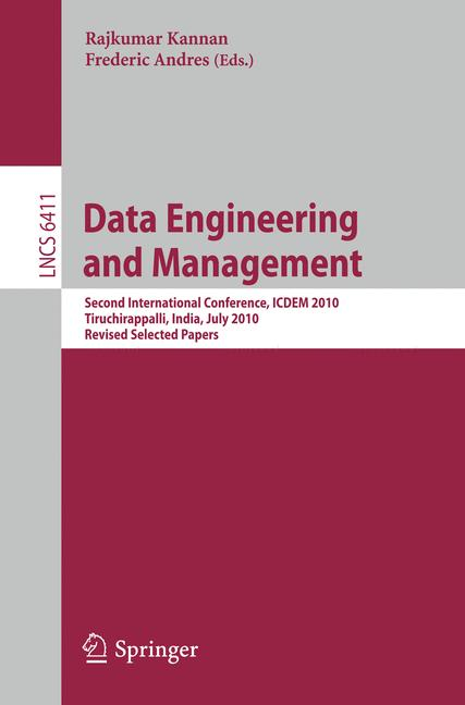 Cover of 'Data Engineering and Management'