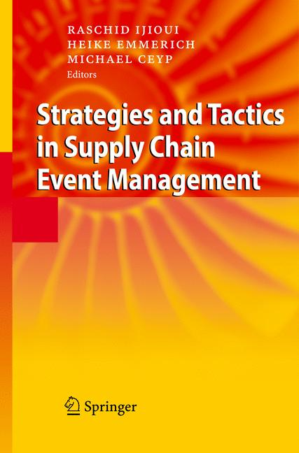 Cover of 'Strategies and Tactics in Supply Chain Event Management'