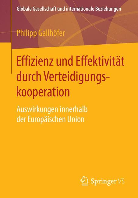 Cover of 'Effizienz und Effektivität durch Verteidigungskooperation'