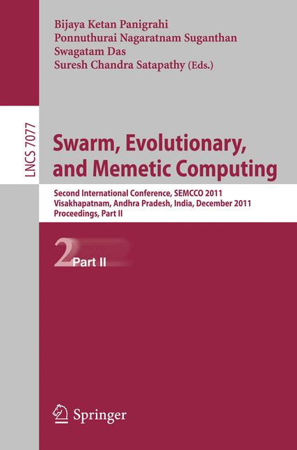 Cover of 'Swarm, Evolutionary, and Memetic Computing'
