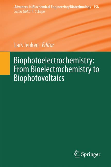 Cover of 'Biophotoelectrochemistry: From Bioelectrochemistry to Biophotovoltaics'