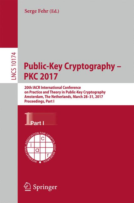 Cover of 'Public-Key Cryptography – PKC 2017'