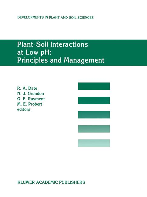 Cover of 'Plant-Soil Interactions at Low pH: Principles and Management'