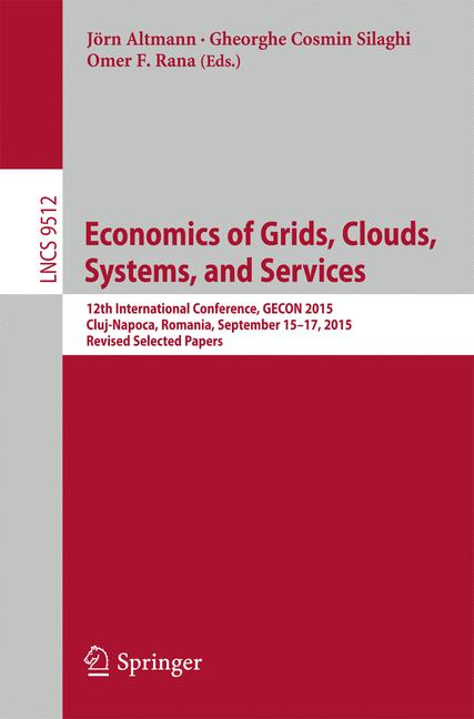 Cover of 'Economics of Grids, Clouds, Systems, and Services'