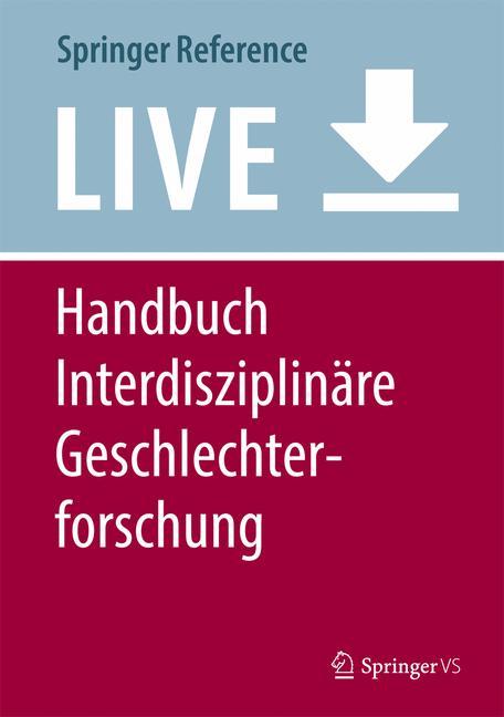 Cover of 'Handbuch Interdisziplinäre Geschlechterforschung'