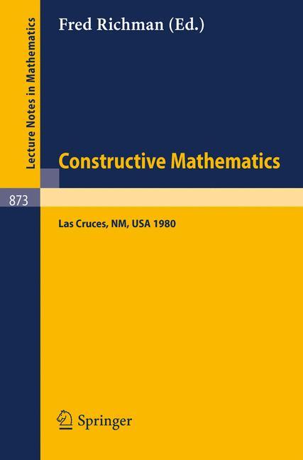 Cover of 'Constructive Mathematics'