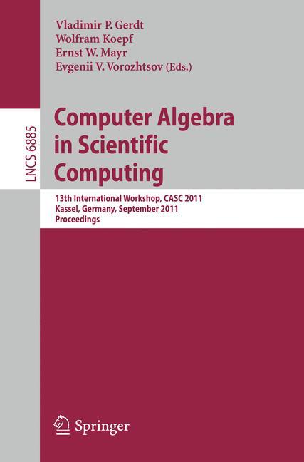 Cover of 'Computer Algebra in Scientific Computing'