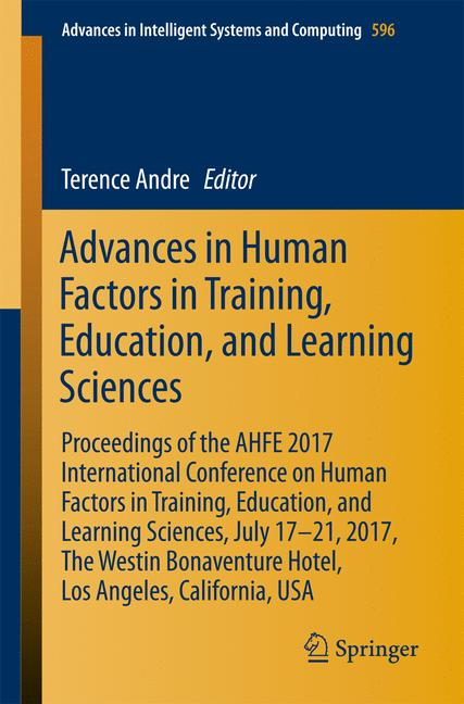 Cover of 'Advances in Human Factors in Training, Education, and Learning Sciences'