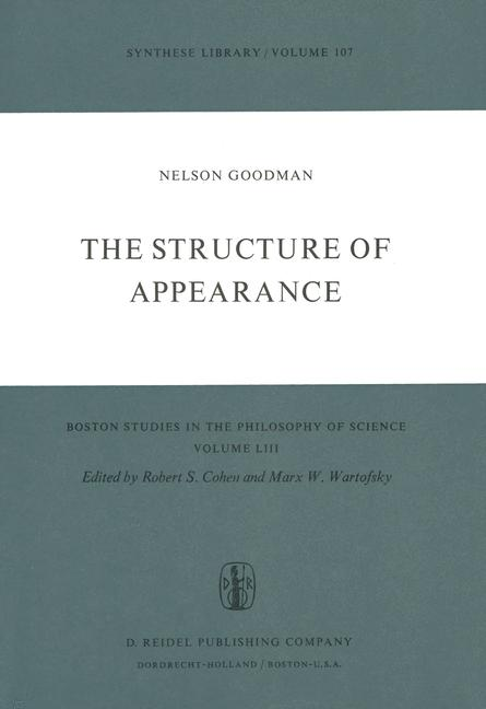 Cover of 'The Structure of Appearance'