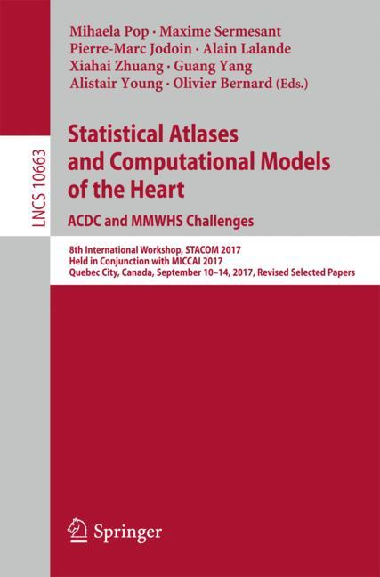 Cover of 'Statistical Atlases and Computational Models of the Heart. ACDC and MMWHS Challenges'