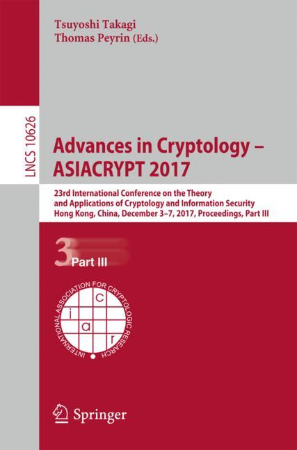 Cover of 'Advances in Cryptology – ASIACRYPT 2017'