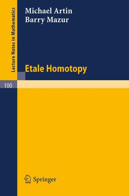 Cover of 'Etale Homotopy'