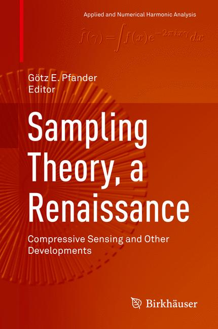 Cover of 'Sampling Theory, a Renaissance'