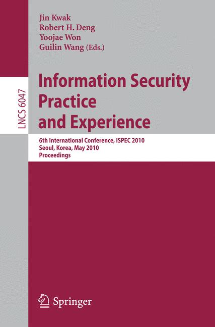 Cover of 'Information Security, Practice and Experience'