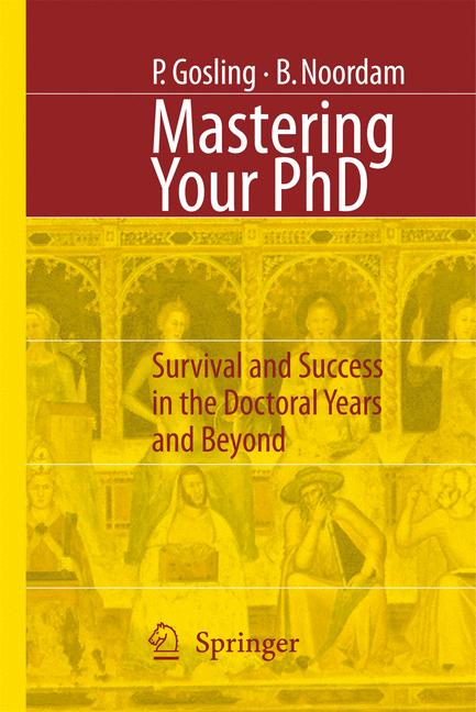Cover of 'Mastering Your PhD'
