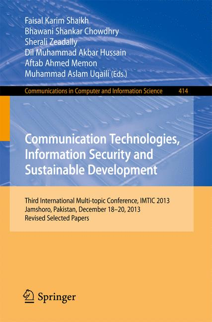 Cover of 'Communication Technologies, Information Security and Sustainable Development'