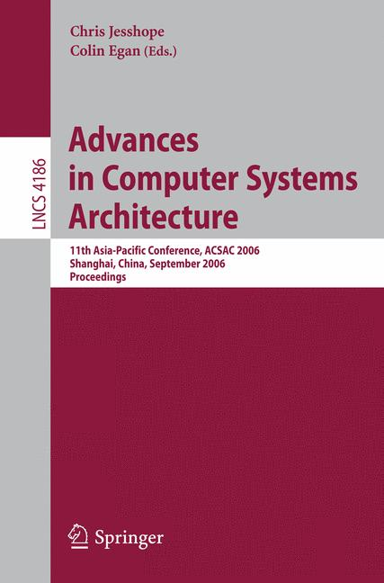 Cover of 'Advances in Computer Systems Architecture'