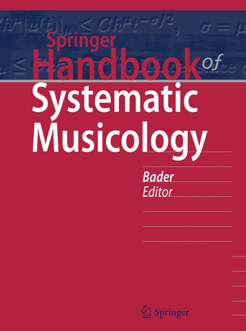 Cover of 'Springer Handbook of Systematic Musicology'