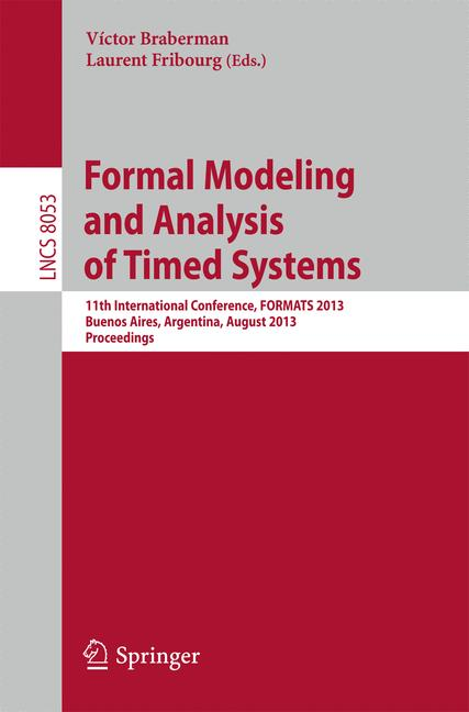 Cover of 'Formal Modeling and Analysis of Timed Systems'