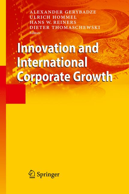 Cover of 'Innovation and International Corporate Growth'