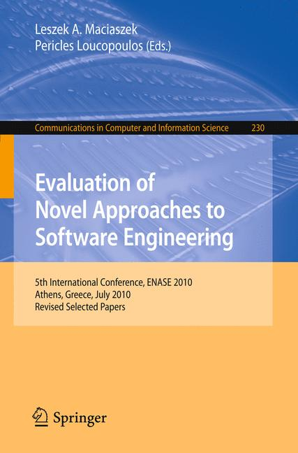 Cover of 'Evaluation of Novel Approaches to Software Engineering'