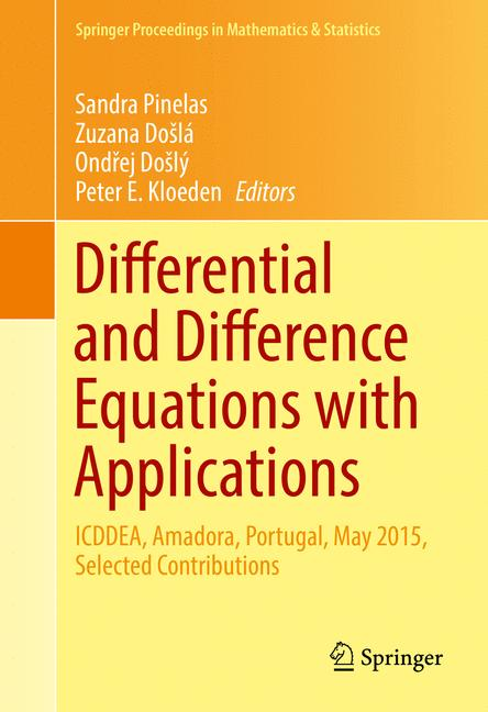Cover of 'Differential and Difference Equations with Applications'
